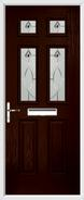 2 Panel 4 Square Composite Door fusion art glass