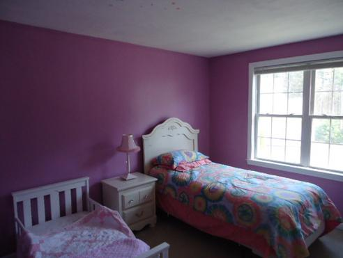 bedroom newly painted in Raynham, MA.