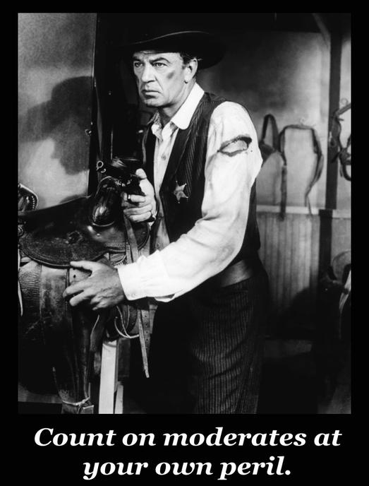 Confusing the snowflakes. (Photo: Gary Cooper as Will Kane in High Noon (1952). Copyright 1952 Stanley Kramer Productions. Use of this picture to contrast two real-life literary types constitutes fair use.