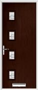 4 Square Composite Door regal corenet glass