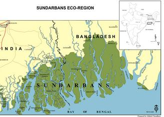 Map of Sundarbans National Park