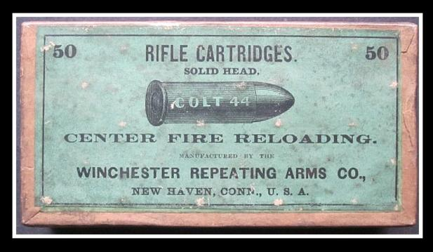 Antique Colt 44 Center Fire Cartridges