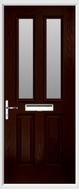 2 panel 2 square glazed composite door