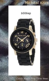 Man Made Goldtone case detail Black dial with three sub-dials and date Black polyurethane-wrapped stainless steel bracelet strap Case, 38mm x 32mmMichael Kors Watches Black PU Runway Watchmk5191,michael kors watch