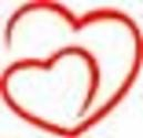 Fuzzy heart logo due to poor low resolution image file.