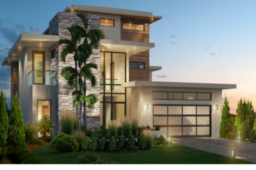 Exterior Shot of Modern Contemporary Custom Built Home
