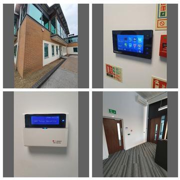 Burglar Alarm CCTV Access control Leeds security systems install repair maintenance