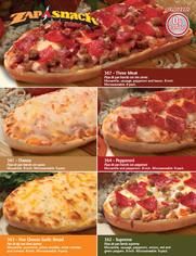 Zap A Snack single page pizza fundraiser brochure