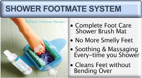Shower foot scrubber mat