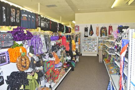 BALLOONS, T-SHIRTS, PARTY ITEMS, Household items, SMOKE SHOP, AND MORE