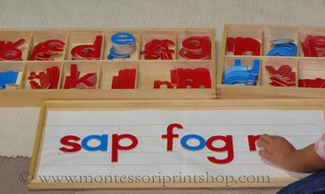 Writing with the Montessori Moveable Alphabet - Montessori Print Shop