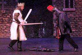 King Arthur (Mark Cooper) and the Black Knight (Dave Edwards)