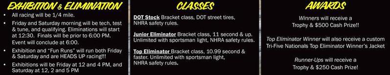 Tri-Five Nationals Drag Racing