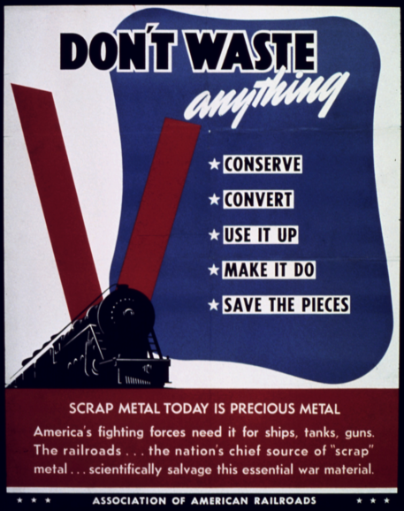 Association of American Railroads WWII poster.