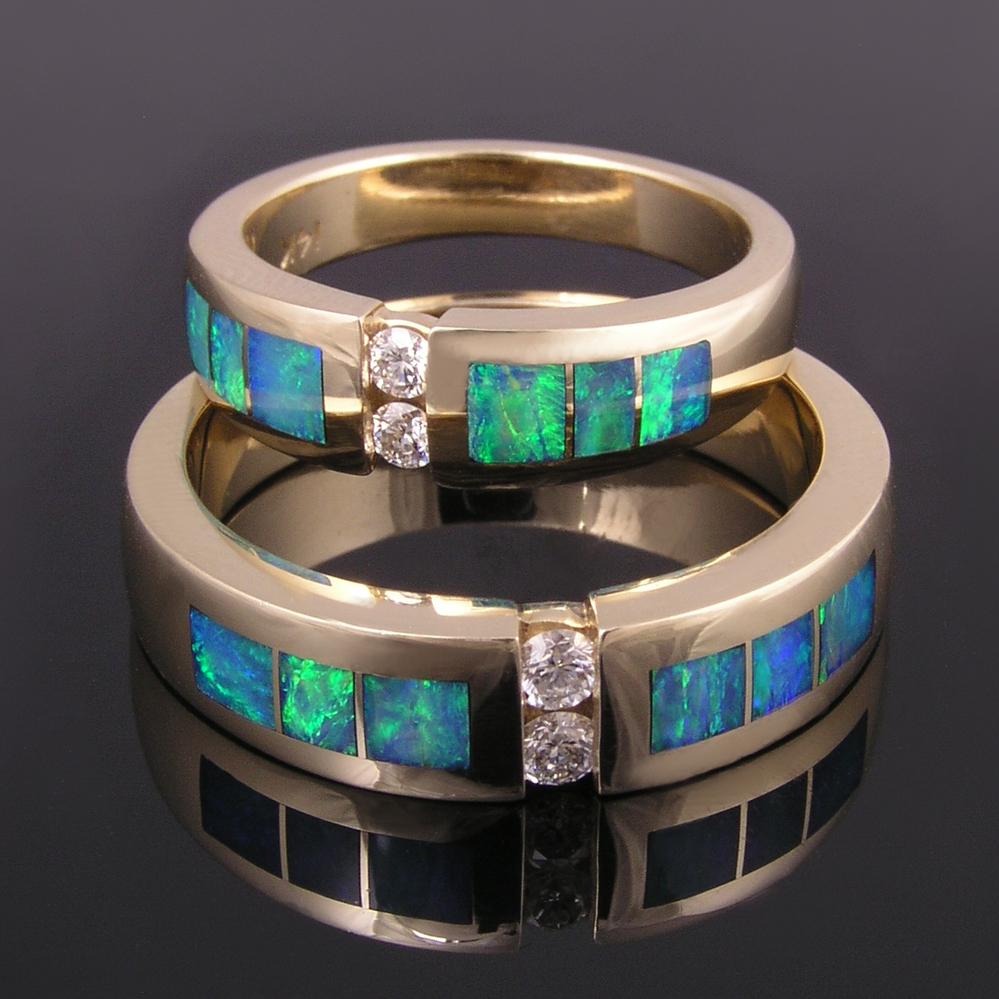 gold jewelry opal wedding ring sets HERE