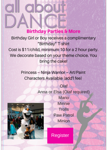 Birthday Party Form