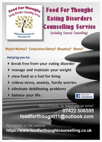 eating disorders counsellor Scarborough leaflet