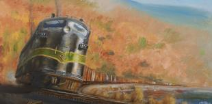 Reading Railroad train painting