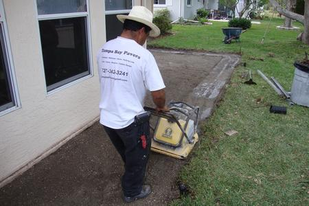 Compacting Paver Base for Brick Paver Patio