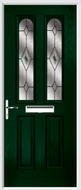2 Panel 2 Arch Composite Door fusion glass