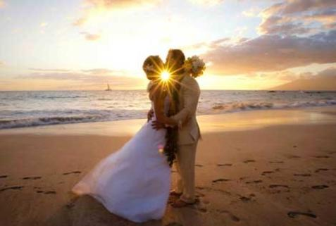 JUST MARRIED SUNSET IN ORANGE BEACH ALABAMA