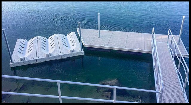 custom dock with jet ski ports