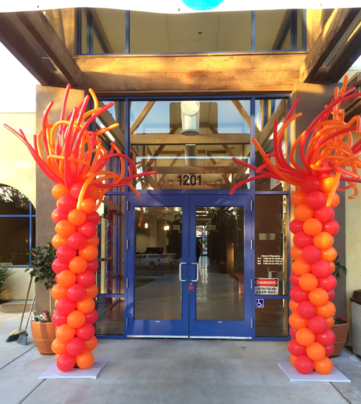 Whimsy Balloons Columns for Grand Opening