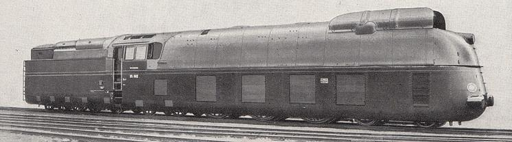 DRG Class 05 locomotive of the type that held the world top speed record from 1936 - 1938.