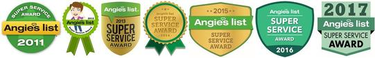 A1 Pressure Washing Angies List Super Service Award 2011-2017 for pressure washing Knoxville TN