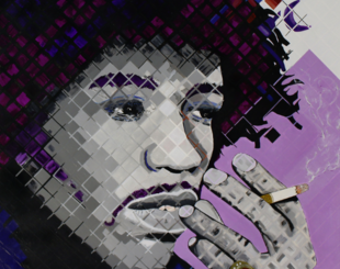 Portrait of Jimi Hendrix