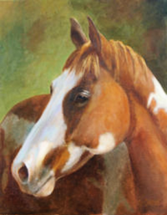 Paint horse oil painting portrait