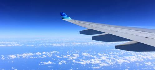 Picture of airplane wing