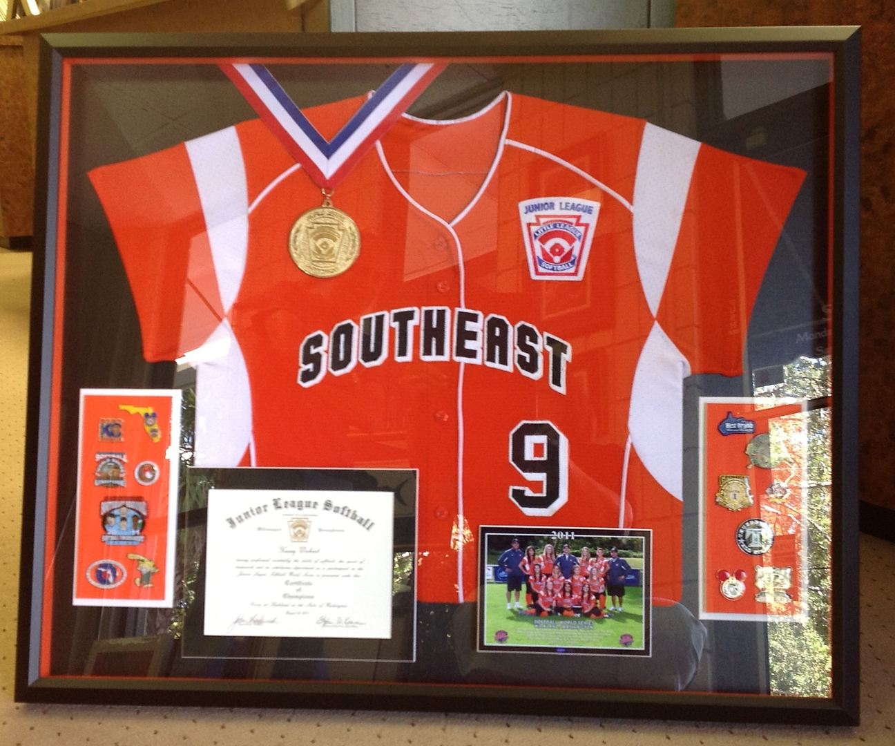 Frame factory and gallery in south tampa tampa softball jersey and championship display solutioingenieria Choice Image
