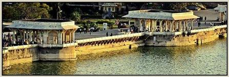 Ana Sagar Lake view in Ajmer Sharif -India