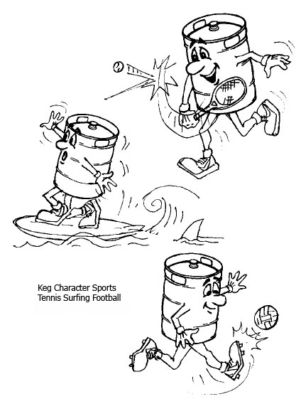 cartoon drawings of sports characters