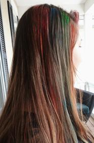Color hair streaking something different!