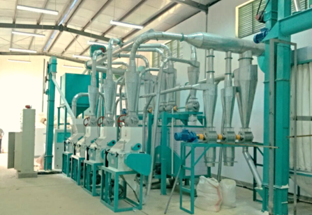 30 ton per day maize flour mill for super white maize meal