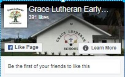 Facebook Face Image from Grace Lutheran Early Learning Center