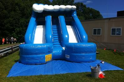 double splash water slide for rent