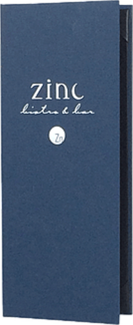 Blue linen menu cover