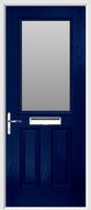 2 panel 1 square composite door obscure glass