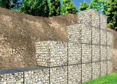 Retaining walls typical 6 ft gabion wall 45 ft bottom course 3 ft top course 5 6 degree batter solutioingenieria Gallery