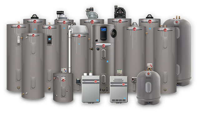 Water heater discriptions rheem website
