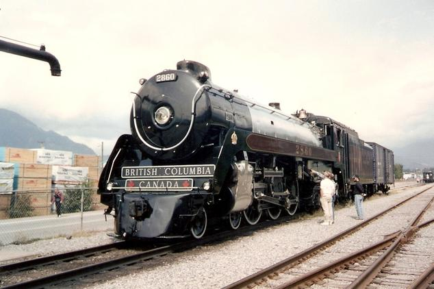 Royal Hudson No. 2860 in Squamish, British Columbia. Photo by Reverend Edward Brain, D.D.