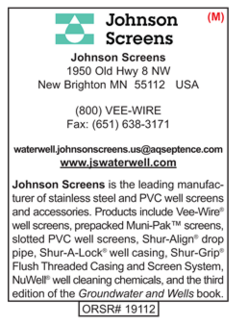 Johnson Screens, Well Screens
