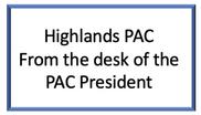 Letter from PAC President