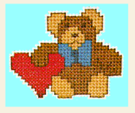 Free Bear Cross Stitch Pattern from Yarntree.com