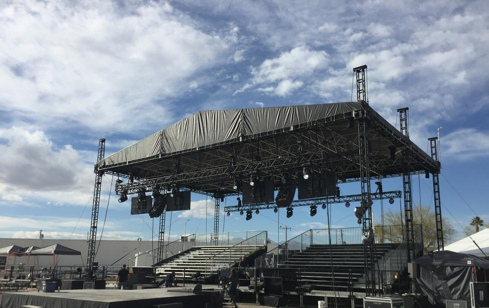 44 X 34 6 Post Self Climbing Concert Roof Amp Stage Systems