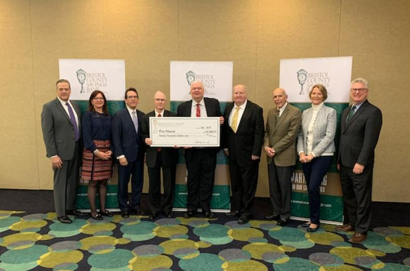 Pro-Home, Inc. receives $20,000.00 donation from Bristol County Savings Bank