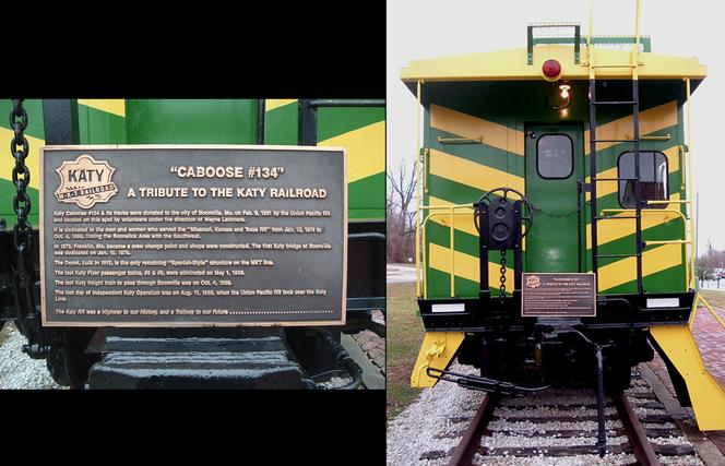 Today, M-K-T No. 134 serves as the Boonville Katy Caboose Railroad Museum, which exhibits artifacts and photographs of railroading in the area.